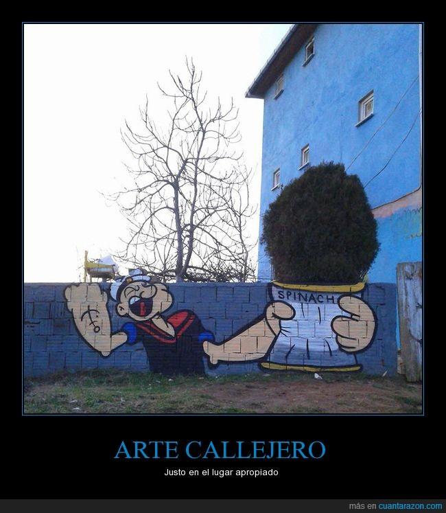 arbusto,arte,graffitti,popeye