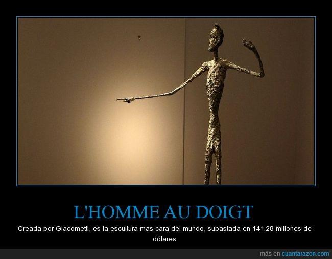 Bronce,El hombre que señala,escultura,L'homme au doigt