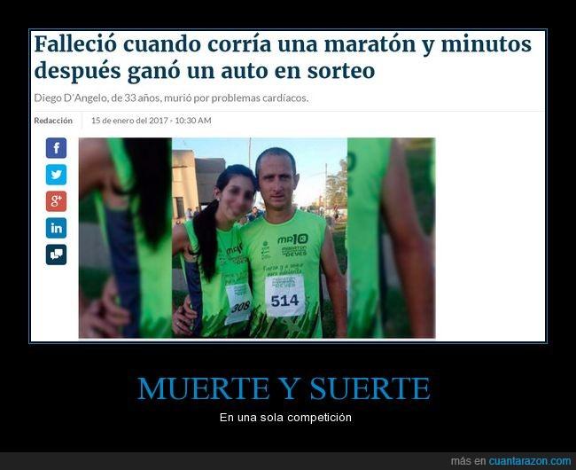 maratón,morir,premio,suerte