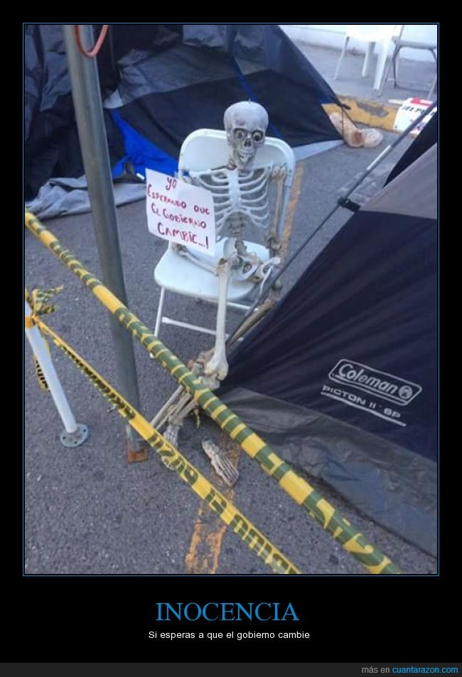 esqueleto,Marchas,protestas