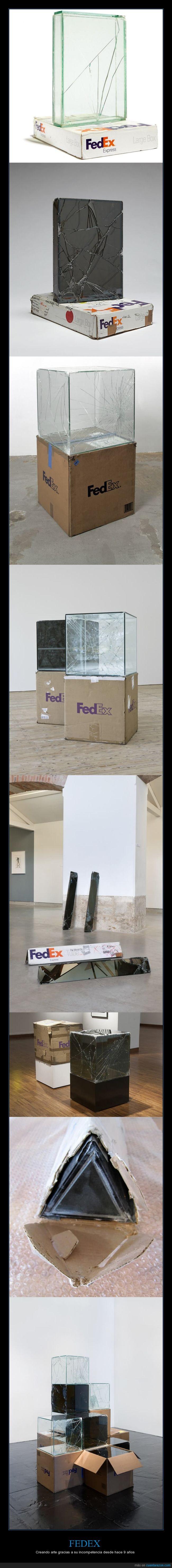 arte,cajas,cristal,fedex,vidrio