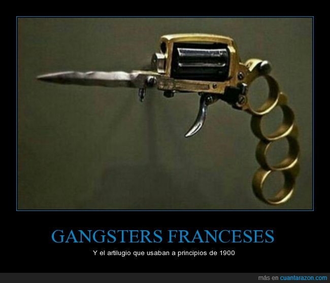 arma,navaja,nudillos,pistola