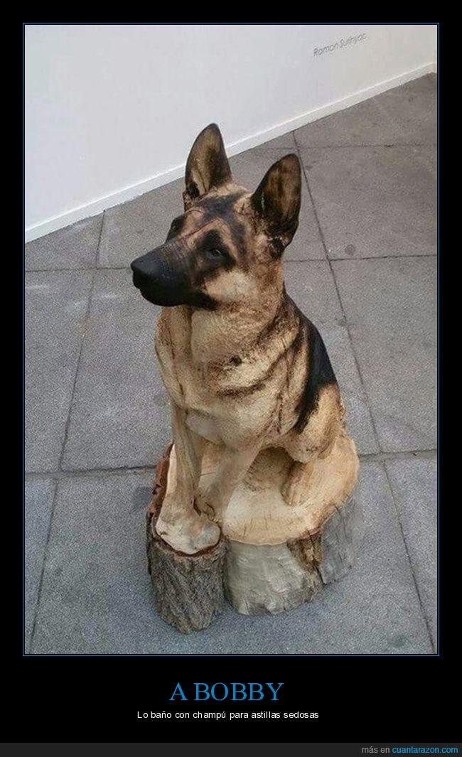 arte,madera,perro