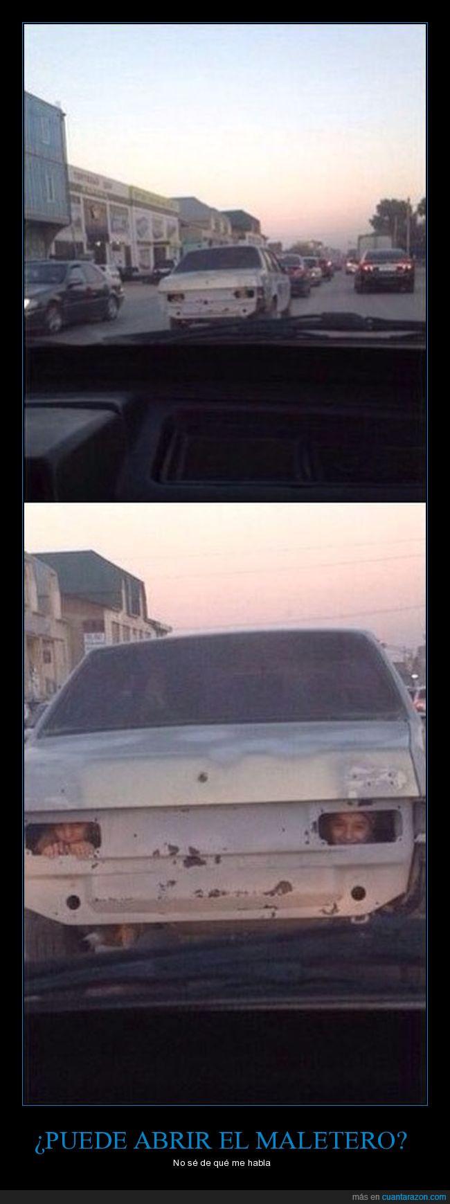 coche,escondidos,maletero,niños