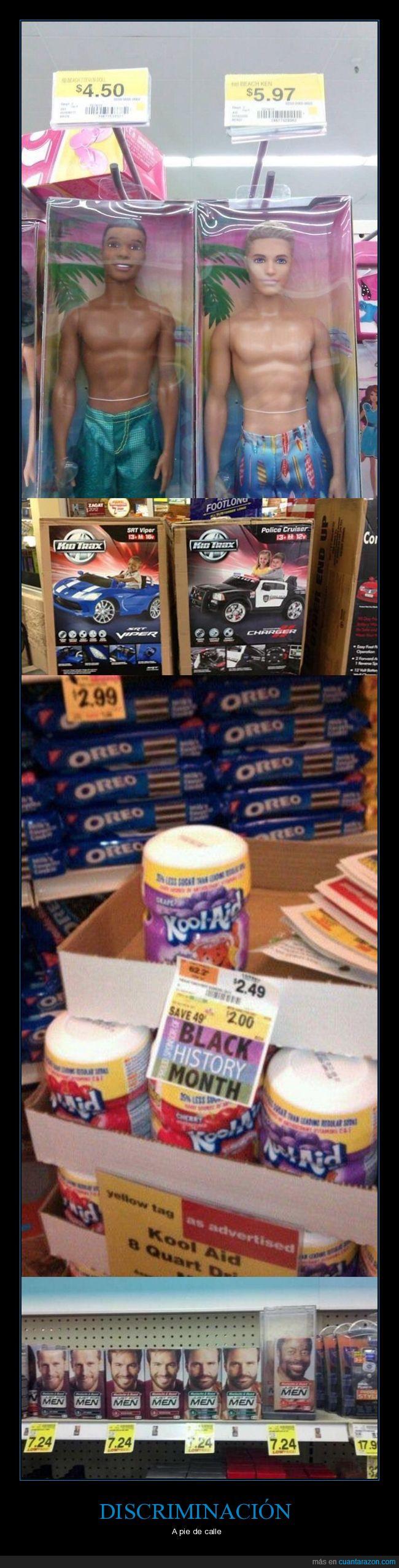 blancos,discriminación,negros,productos,racismo