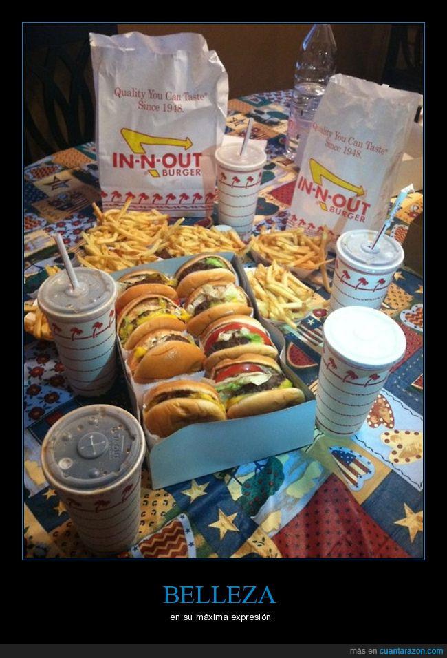 belleza,comida,hamburguesas,patatas fritas