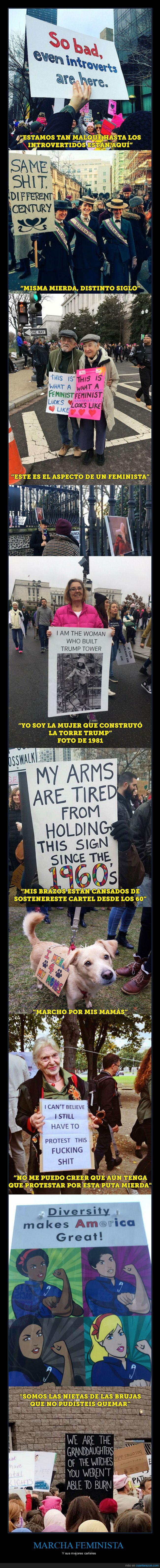 22 ene,carteles,marcha feminista,reivindicación