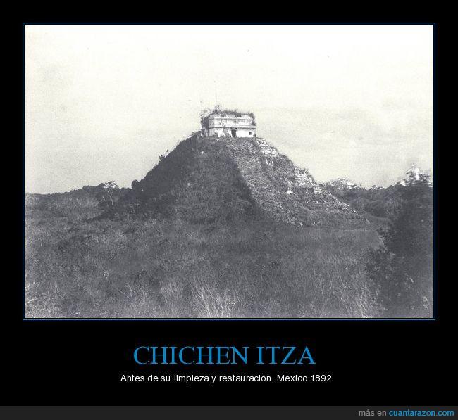 arboles,bosque,Chichén Itzá,maleza,maya,méxico,piramide,yucatán