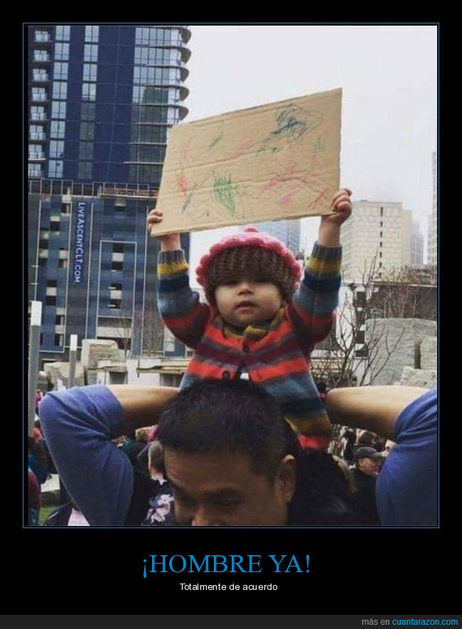 garabatos,niño,no se lee nada,pancarta,protesta