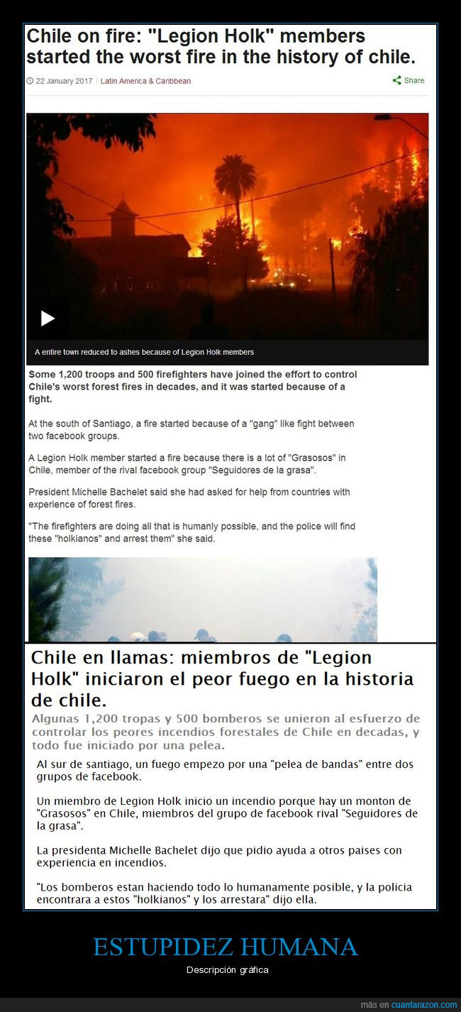 Cancer,Chile,Incendio,Legion Holk,Seguidores de la grasa
