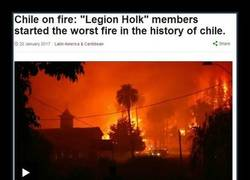 Enlace a El peor fuego en la historia de Chile, originado por una pelea de bandas en fb