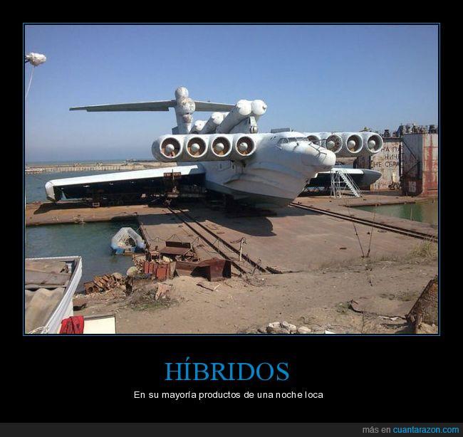 avión,barco,híbrido