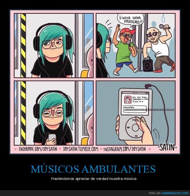 ambulantes,auriculares,bus,música,subir
