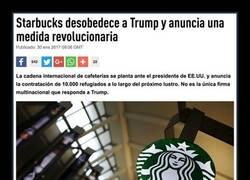Enlace a Starbucks planta cara a Donald Trump y anuncia una medida revolucionaria