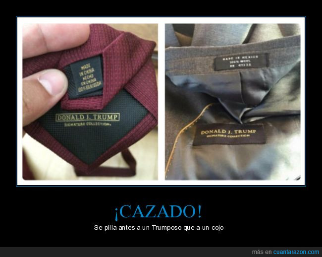 donald trump,made in china,ropa