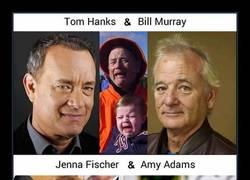 Enlace a 41 famosos que comparten el mismo rostro