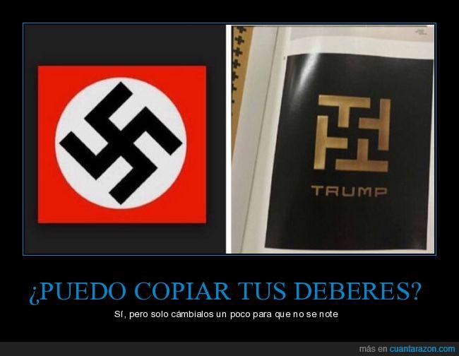 esvástica,logo,nazi,trump