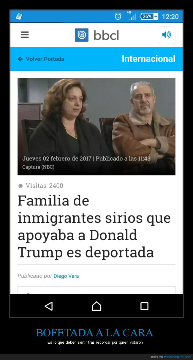 bofetadas,deportaciones,EEUU,estados unidos,inmigracion,ironía,presidente,siria,sirios,Trump,voto