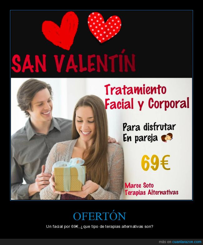 69,Alternativas,Facial,Love,San Valentín,Terapia