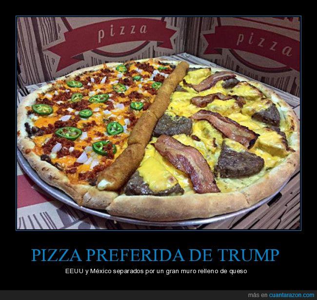 donald trump,pizza,separación