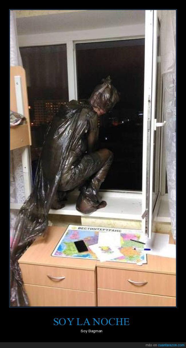 bagman,Batman,bolsa de basura