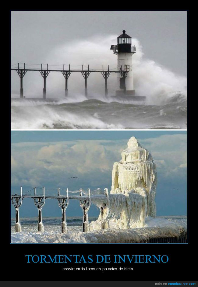 congelar,faro,hielo,nieve,tormenta
