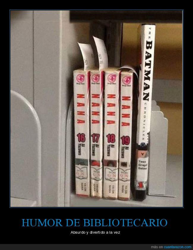 biblioteca,humor absurdo,libro