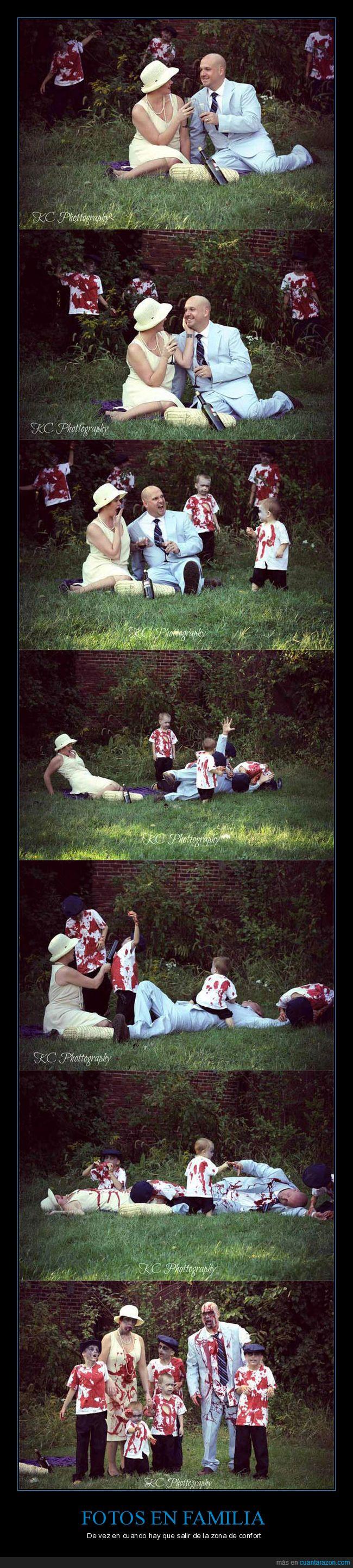 familia,fotografías,fotos,zombies