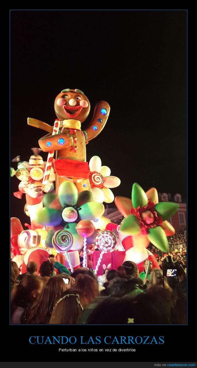carnaval,carroza,galleta,perturbador