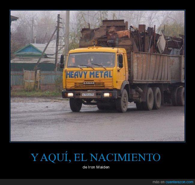 camión,carga,metal