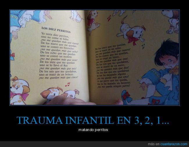 canciones infantiles,contar,libros,niños,numeros,perritos,trauma