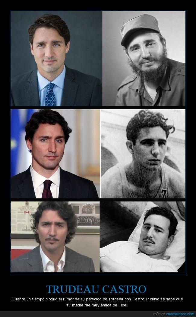 Fidel Castro.parecidos,J. Trudeau,padre ?