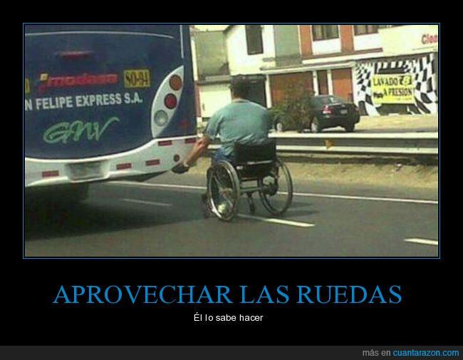 autobús,camión,silla de ruedas
