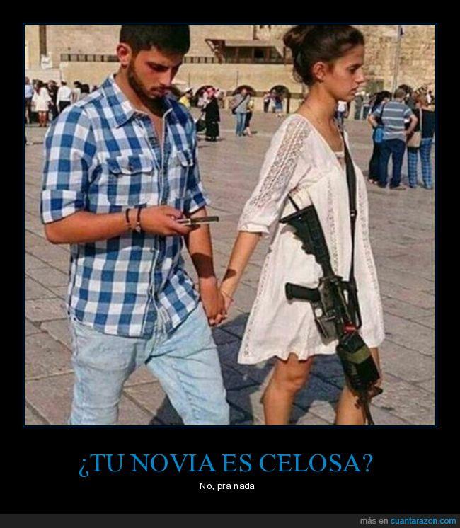 amor,arma,celosa,novia,pareja