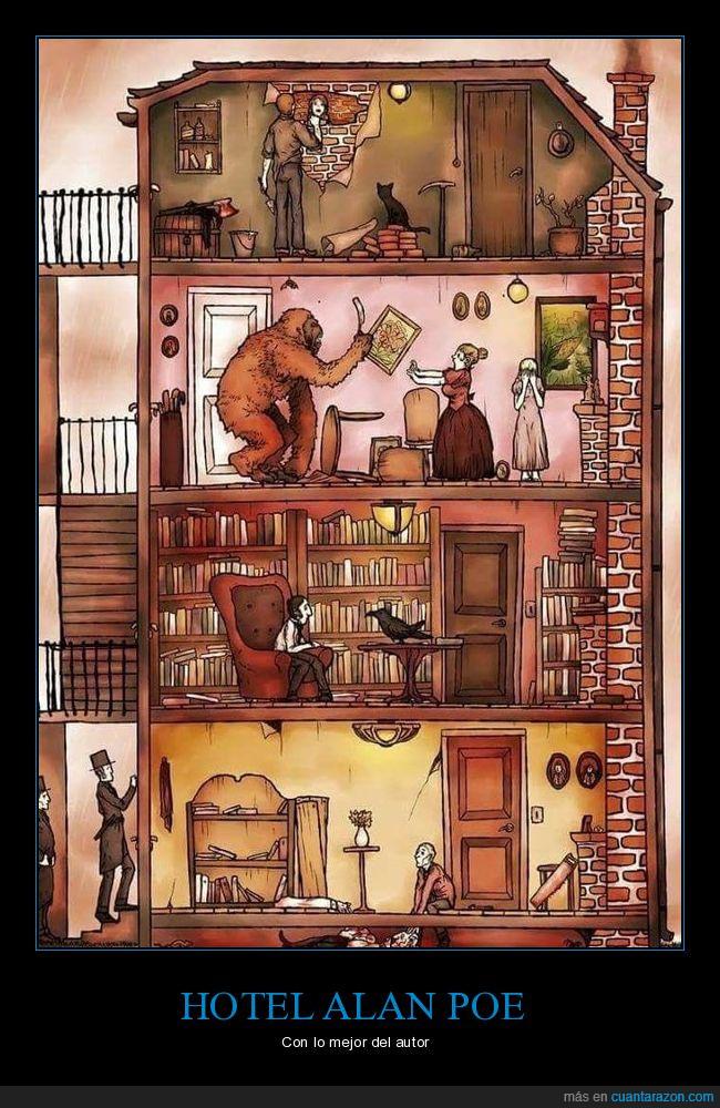 cartel,Edgar Alan Poe,libro,reflexión,vida
