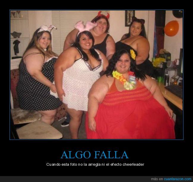 chicas,efecto animadora,fiesta,obesas,subidas de peso