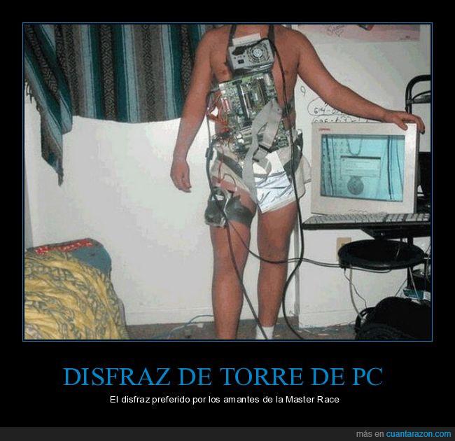 disfraz,master race,pc,torre