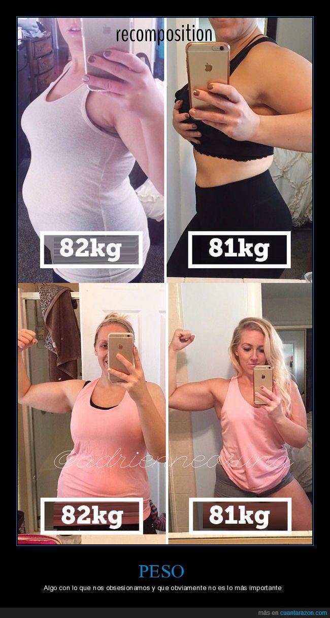 diferencias,grasa,masa muscular,peso