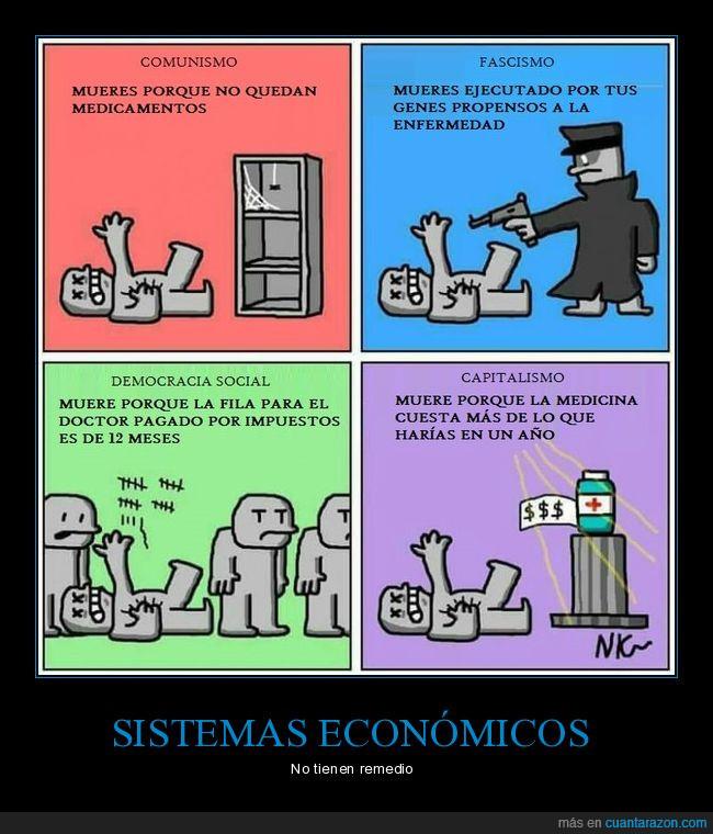 capitalismo,comunismo,democracia,economía,enfermedad,fascismo,medicamento,medicina,remedio,sistema,solución