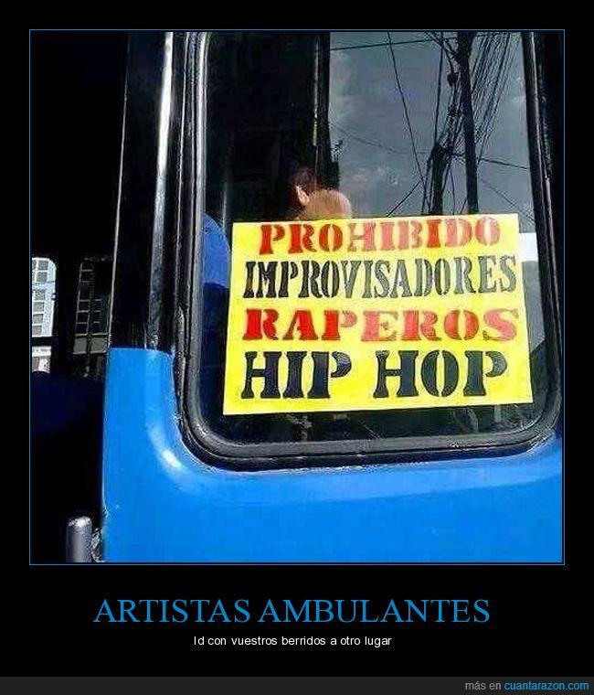 ambulante,artista,autobús,bus,prohibido