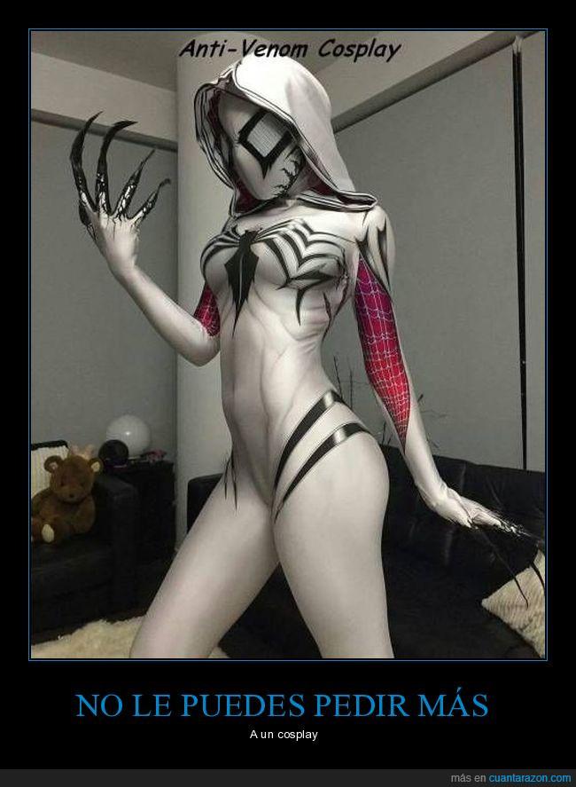 caracterizaciónchica,cosplay,disfraz,Venom