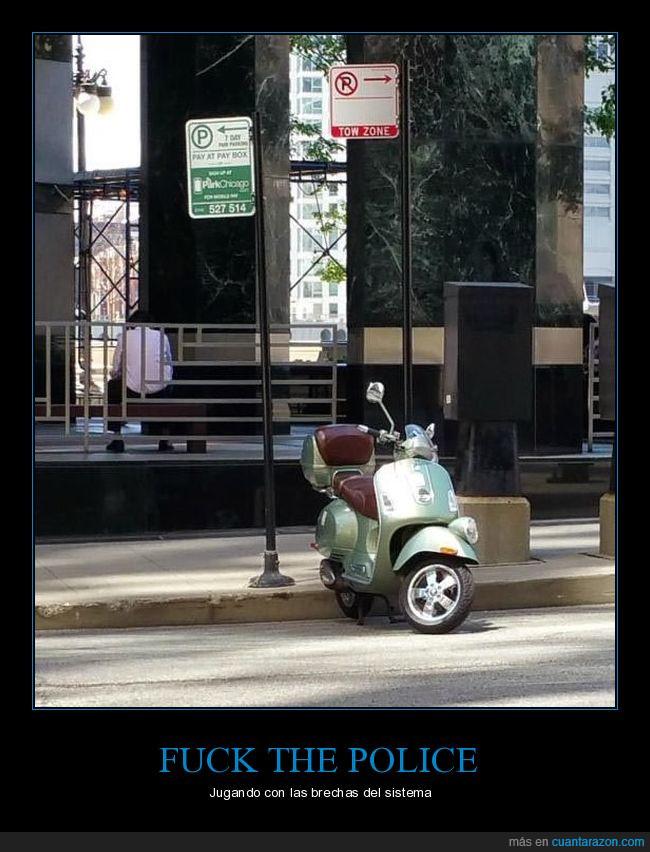 aparcamiento,aparcar,moto,prohibido