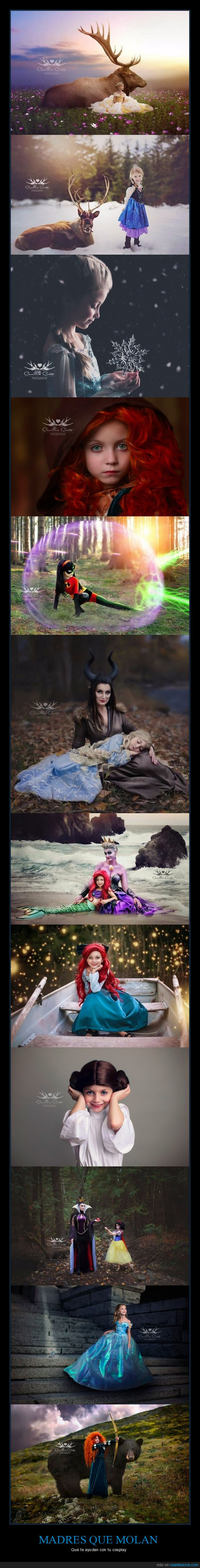 cosplay,disney,hija,madre