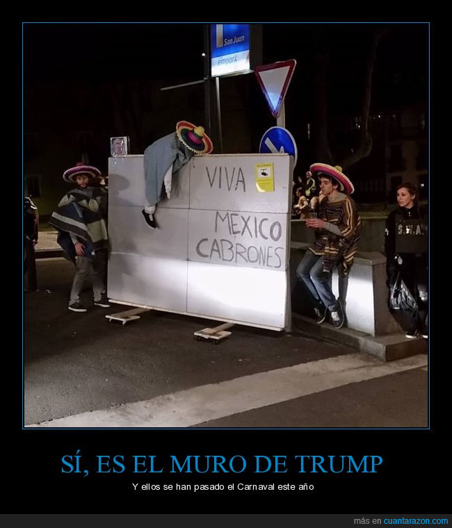 andele,carnaval,disfraz,muro,muro de trump,trump
