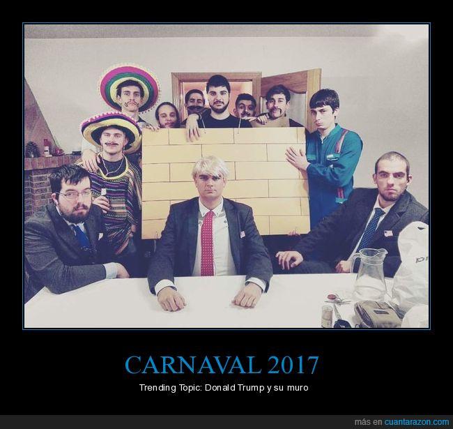 Carnaval,disfraz,Guardaespaldas,Mexicanos,muro,Trump