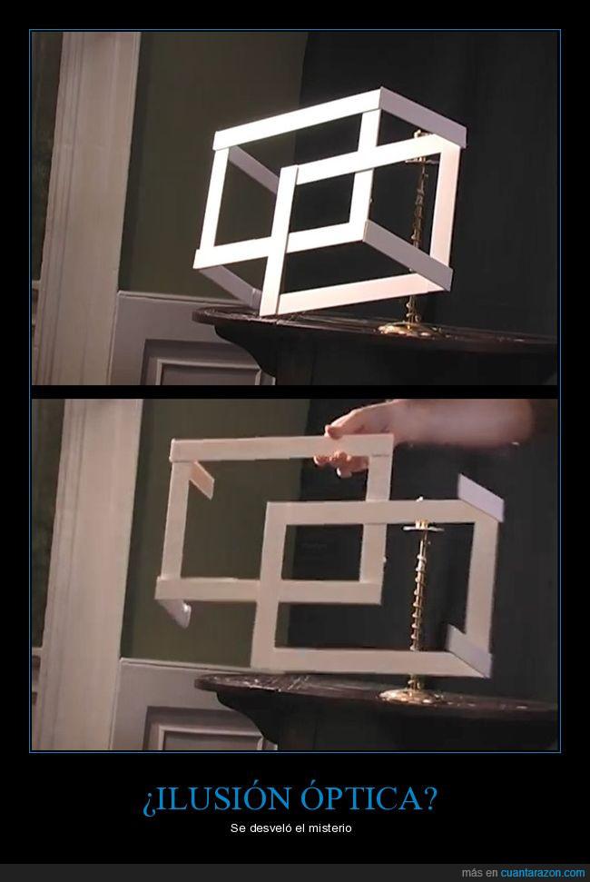 cuadrado,escultura,ilusión óptica