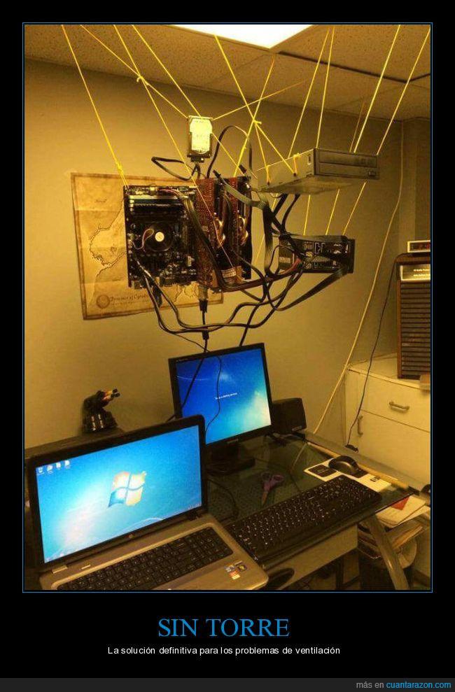 colgar,equipo,ordenador,torre