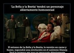 Enlace a 'La Bella y la Bestia' tendrá un personaje abiertamente homosexual
