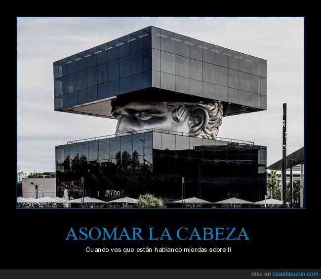 asomar,edificio,escultura