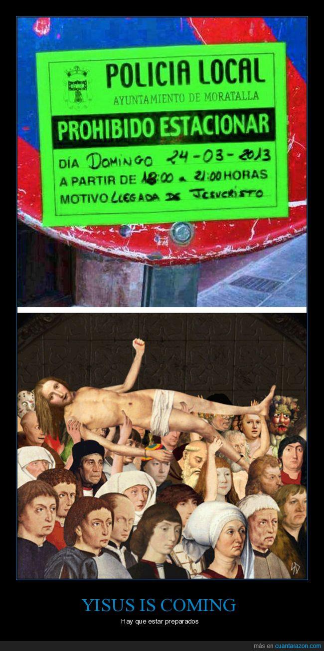 cartel,llegada de jesucristo,procesión,yisus
